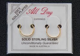 earrings for sensitive ears australia 22ct gold plated sleepers hoops hinged earrings 5 sizes australia