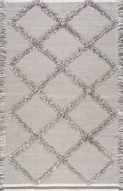 dolcina cn01 embossed frayed diamond trellis rug 7 u0027 6 u0027 x by