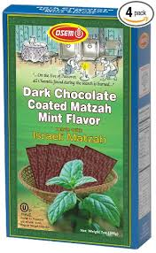 osem matzah osem chocolate coated matzah crackers mint