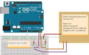 i2c psoc analog coprocessor as master to arduino as slave