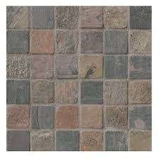 Tumbled Slate Backsplash by 2x2 Mixed Tumbled Slate Mosaic Tiles For Backsplash Shower Walls