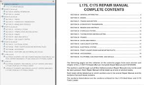 new holland l175 c175 skid steer and track loaders repair manual