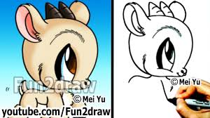 how to draw easy stuff how to draw animals goat cute