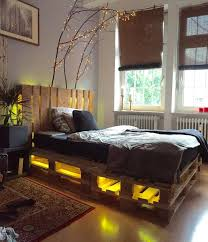 bed frame with lights wood pallet bed frame with led lights crustpizza decor 2018