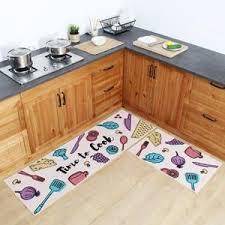 tapis de cuisine orange tapis pour cuisine lavable tapis de salle de bain