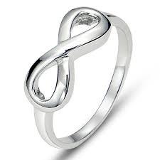 silver wedding band 925 sterling silver infinity symbol wedding band ring