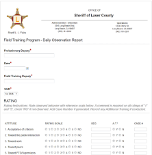 employee daily report template employee evaluation forms made paperless