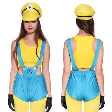womens minion costume helper group halloween fancy dress s m l