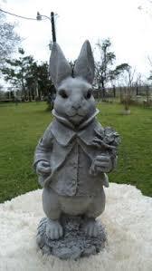 cement 9 1 2 standing bunny rabbit garden concrete