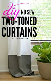 Two Tone Curtains Livelovediy Diy No Sew Two Toned Curtains