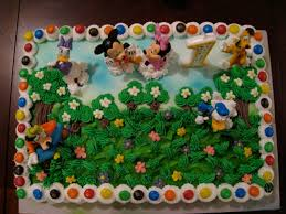 mickey minnie u0026 friends 1st birthday cake 2009 cake at home