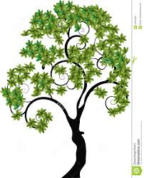 tree with spiral branches stock vector image of creative 13507829