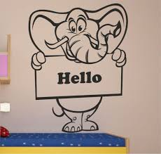 Elephant Wall Decal For Nursery by Elephant Kids Wall Stickers Nursery And Decals