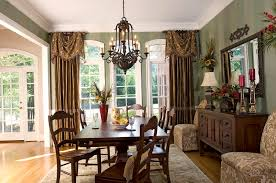 Dining Room Curtain Panels by Charming Curtain Ideas For Dining Room With Oval White Table And