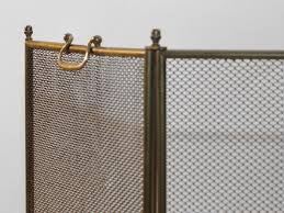 4 fold vintage fire screen spark guard at 1stdibs