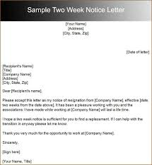 3 two weeks notice example academic resume template