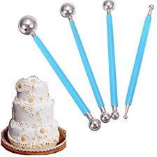 Where To Buy Cake Decorating Supplies Amazon Com Dpist Fondant Tools Metal Ball Fondant Cake Decorating