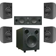 rca 80 watt home theater speaker system proficient aw400 5 1 home theater speaker kit