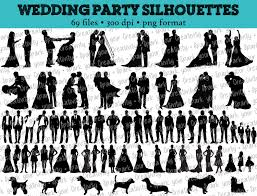 party silhouette 69 wedding party silhouettes wedding bride bridesmaid