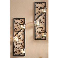 Wrought Iron Candle Wall Sconces Wrought Iron Wall Mounted Candle Holders U0026 Accessories Ebay