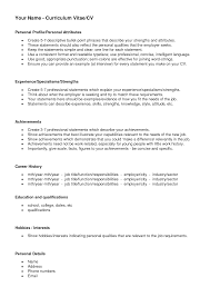 Resume Personal Statement by Personal Statement Examples Cv Sales