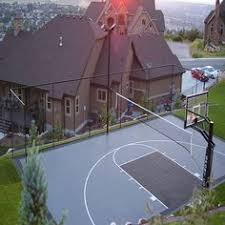Backyard Sport Court Cost by Outdoor Basketball Court So Redoing Ours To Look Like This