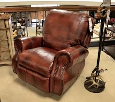 Ashley Furniture Exhilaration Sectional Russet Brown Leather Recliner With Baseball Stitching And Nail