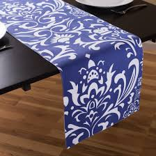 blue and white table runner royal blue table runner home garden compare prices at nextag