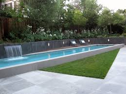 modern lap pool raised poolmodern poolshades of green landscape ideas
