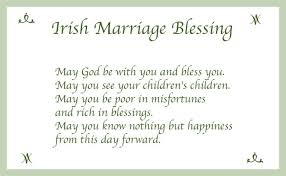 Wedding Blessings Funny Irish Wedding Blessings Tbrb Info