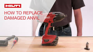 how to replace damaged anvil on the hilti cordless impact wrench