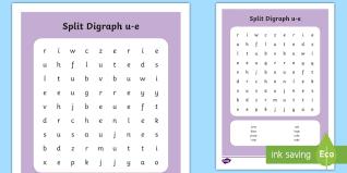 split digraph u0027u e u0027 word search phonics magic e phoneme