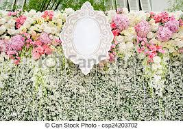 wedding backdrop graphic stock photography of colorful flowers with green wall for wedding