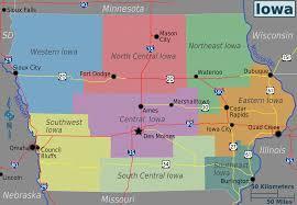 map of iowa file iowa regions map png wikimedia commons