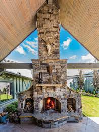 winter warmth with outdoor fireplaces 405 home october 2017