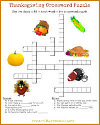 thanksgiving crossword thanksgiving crossword puzzles print pictures to pin on pinterest