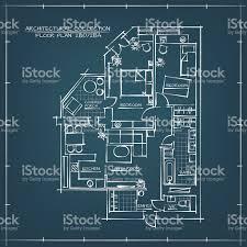 blueprint floor plan architectural blueprint floor plan stock vector 517571162 istock