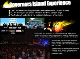 the beach stage at governors island nyc sponsorship deck