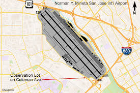 san jose airport on map san jose airport planespotting flightline aviation media