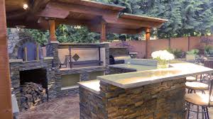 Outside Kitchens Ideas by Outdoor Kitchen Designs With Smoker 51 Inspiring Style For Tags