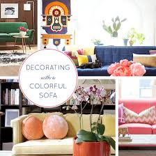 12 ideas for decorating with a colorful sofa babble