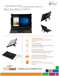 surface pro 4 rugged case mobiledemand pdf catalogue