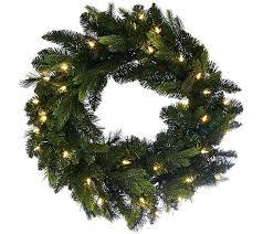 bethlehem lights 24 mixed green prelit holiday wreath