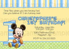 baby mickey 1st birthday baby mickey birthday invitations best party ideas