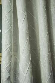 Curtains Plum Color by Diamond Pintucked Linen Curtain Panel Drape Color White Size