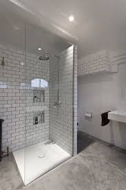 laticrete grout bathroom eclectic with 3 6 subway tile black white
