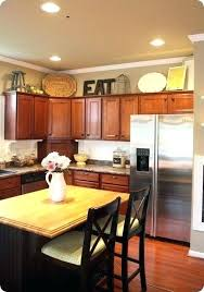kitchen cabinet decor ideas oak kitchen cabinets decorating ideas cabinet top decor units