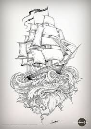 new school tattoo drawings black and white old school shipping ships school and tattoo