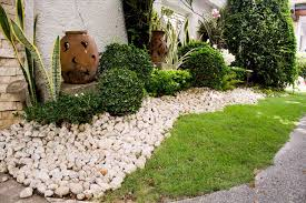small front yard rock landscaping rock residential archives
