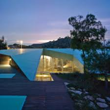 glass and concrete house design in canary islands spain a view